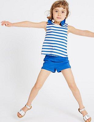 2-teiliges Outfit aus reiner Baumwolle (3 Monate–5 Jahre), BLAU MELANGE, catlanding