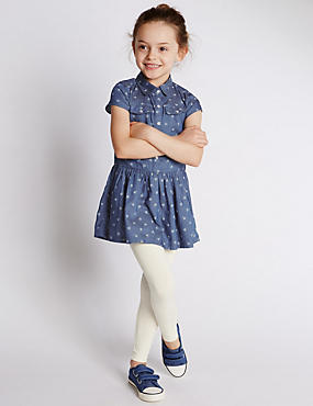 2 Piece Denim Dress & Leggings Outfit (1-7 Years)
