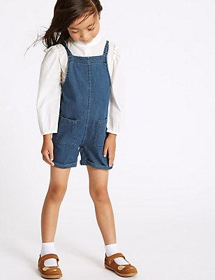 2 Piece Shirt & Dungarees Outfit (3 Months - 5 Years), MULTI, catlanding