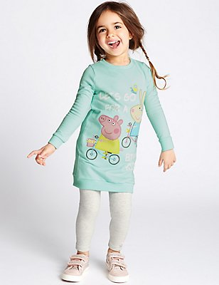Peppa Pig™ Top & Leggings Outfit (1-5 Years), MINT MIX, catlanding