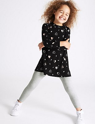 2 Piece Top & Leggings Outfit (3 Months-5 Years), BLACK MIX, catlanding
