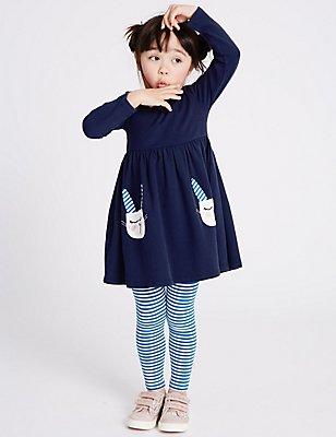 2 Piece Outfit (3 Months - 5 Years), DARK INDIGO, catlanding