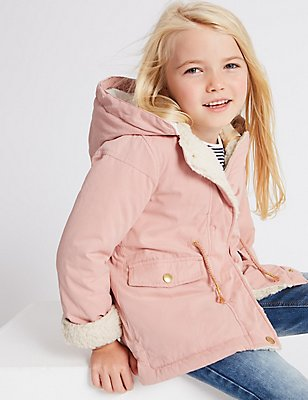 Cotton Blend Parka with Stormwear™ (3 Months - 7 Years), PINK MIX, catlanding