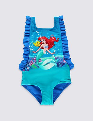 Disney Princess Ariel Swimsuit with Lycra® Xtra Life™ (0-5 Years), BLUE MIX, catlanding