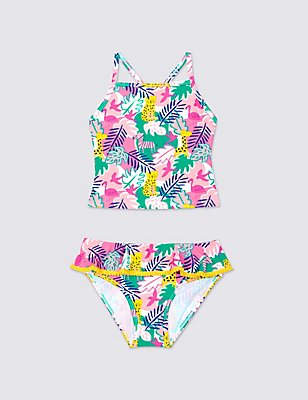 Jungle Print Tankini Set (0-5 Years), MULTI, catlanding
