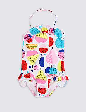 All Over Print Swimsuit (3 Months - 7 Years), WHITE MIX, catlanding