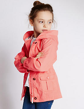 Pure Cotton Hooded Swing Coat with Stormwear™ (1-7 Years)