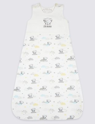 Pure Cotton 2.1 Tog Tatty Teddy Sleeping Bag, MULTI/NEUTRAL, catlanding