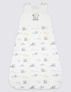 Pure Cotton 2.1 Tog Sleeping Bag, MULTI/NEUTRAL, catlanding