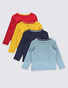 Lot de 4t-shirts à motif gaufré, MULTI, catlanding
