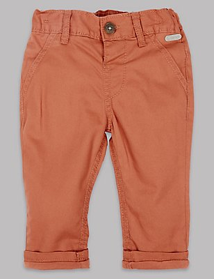 Pure Cotton Chinos, BURNT SIENNA, catlanding