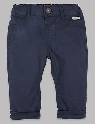 Pure Cotton Chinos, DARK NAVY, catlanding