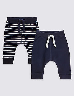 2 Pack Cotton Assorted Joggers with Stretch, NAVY MIX, catlanding