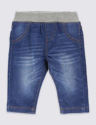 Cotton Pull On Denim Jeans with Stretch, DENIM, catlanding