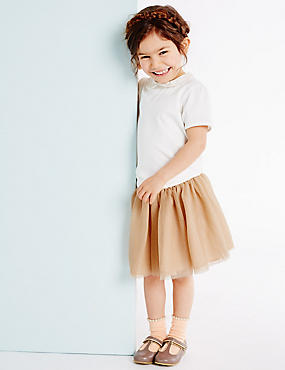 Girls Glitter Tutu (3 Months - 5 Years), SOFT APRICOT, catlanding