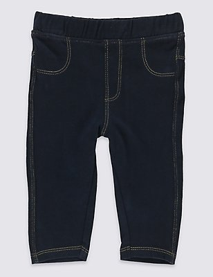 Cotton Rich Pull On Jeggings, DENIM, catlanding
