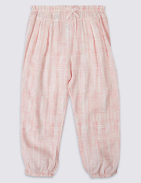 Printed Woven Trousers, PINK MIX, catlanding