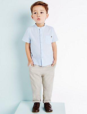 Geweven broek voor jongens (3 maanden-5 jaar), LICHT ZAND, catlanding