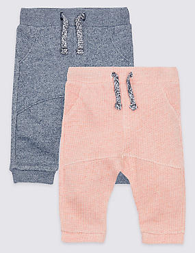 2 Pack Textured Joggers, DENIM MIX, catlanding