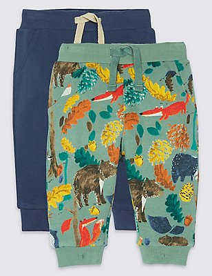 2 Pack All Over Print Joggers, MOSS GREEN, catlanding