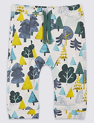 Pure Cotton All Over Print Joggers, MULTI, catlanding