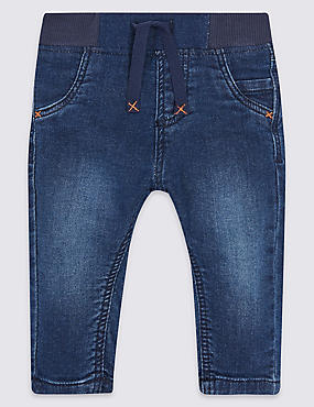 Cotton Jeans with Stretch , DENIM, catlanding