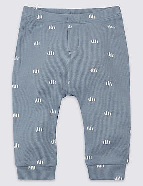 Cotton Joggers with Stretch, BLUE MIX, catlanding