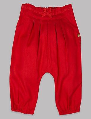 Elastic Waist Trousers, MEDIUM RED, catlanding