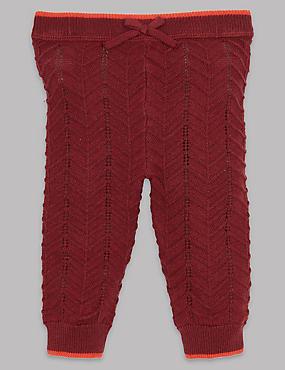 Knitted Leggings with Cashmere, DARK CLARET, catlanding