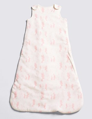 Girls' Rabbit 1.5 Tog Sleeping Bag, PINK MIX, catlanding