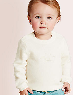 Pullover aus reinem Kaschmir (0–12 Monate), CREME, catlanding
