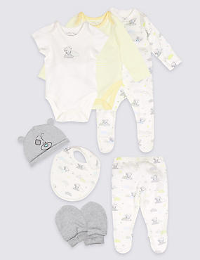 7 Piece Pure Cotton Outfit, WHITE MIX, catlanding
