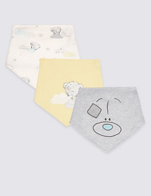 3 Pack Pure Cotton Bibs, WHITE MIX, catlanding