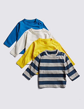 4 Pack Cotton Rich Assorted T-Shirts