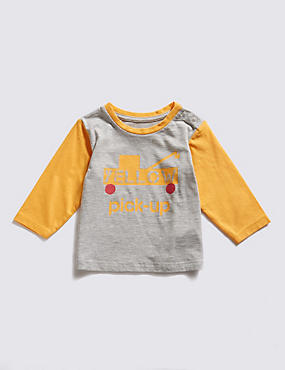 Cotton Rich Yellow Pick-Up Truck Graphic T-Shirt