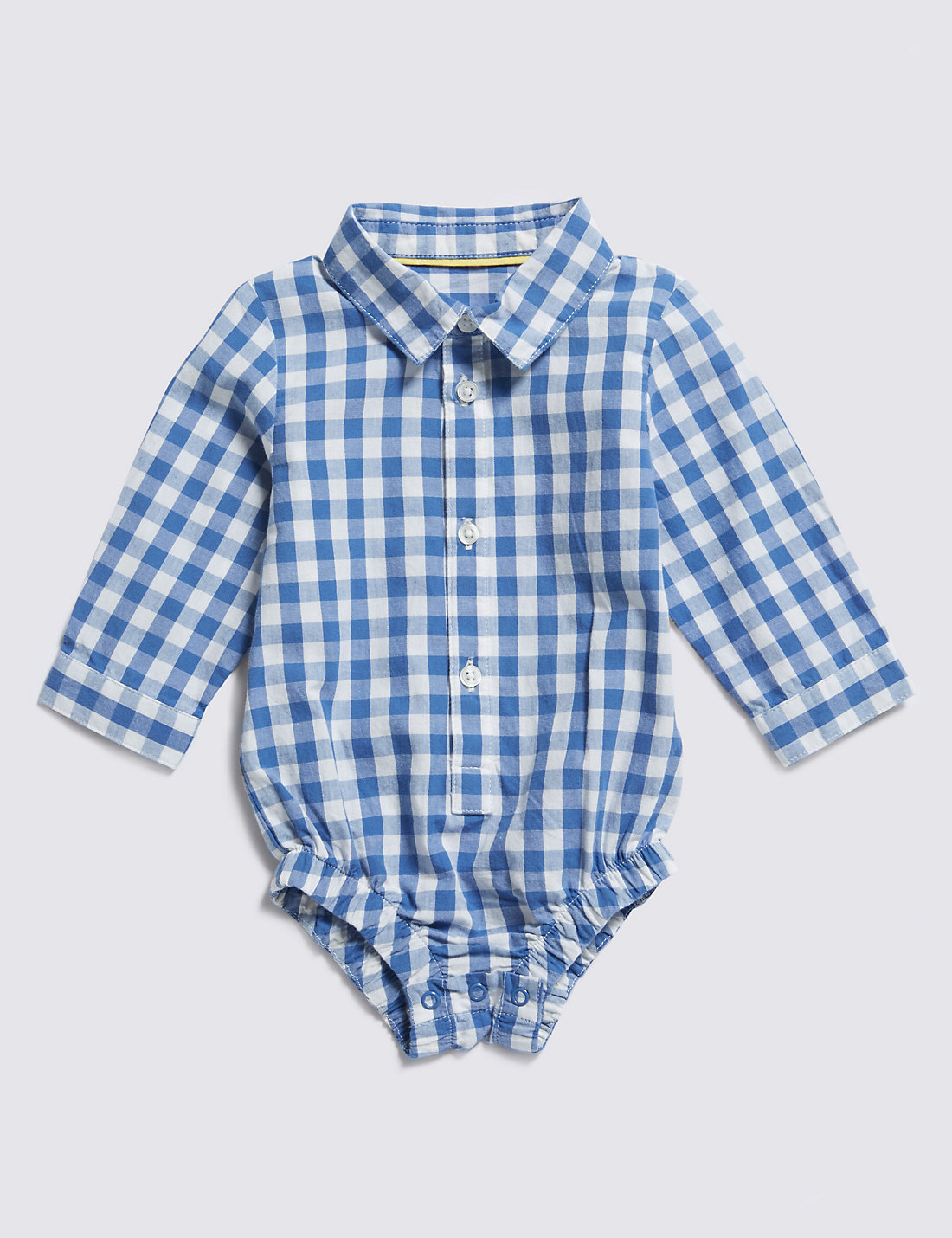 Pure Cotton Checked Bodysuit
