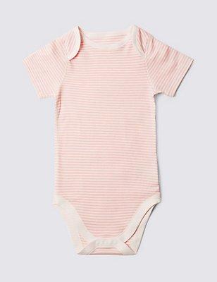 Kurzarm-Body aus reiner Baumwolle (3–8 Jahre), PINK MIX, catlanding