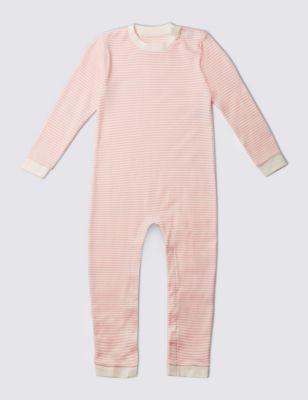 Комбинезон из чистого хлопка в полосочку для девочки 3-8 лет от Marks & Spencer