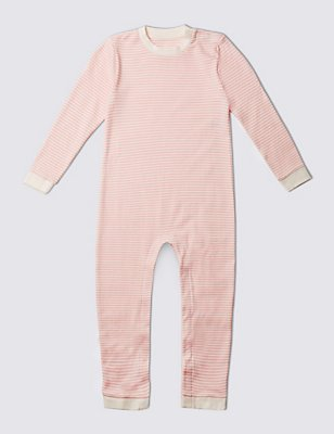Pure Cotton Sleepsuit (3-8 Years), PINK MIX, catlanding