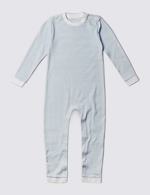 Pure Cotton Sleeping Suit , BLUE MIX, catlanding