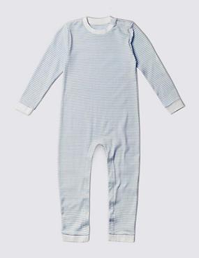 Schlafanzug aus reiner Baumwolle (3–8 Jahre), BLUE MIX, catlanding
