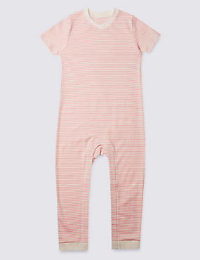 Pure Cotton Sleeping Suit (3-8 Years), PINK MIX, catlanding