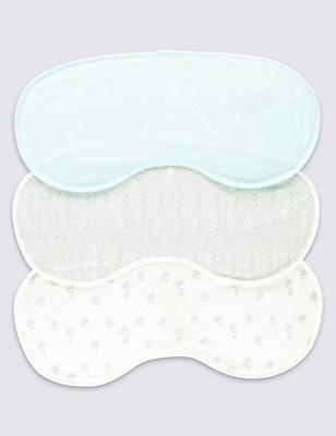 3 Pack Pure Cotton Large Burp Cloths, MULTI, catlanding