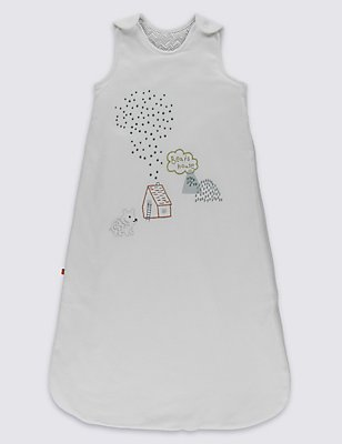 Bear Embroidered 2.2 Tog Sleeping Bag, MULTI, catlanding