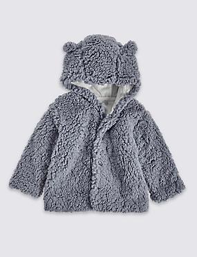 Veste en polaire à capuche, GRIS, catlanding