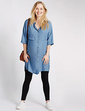 Tencel® Maternity Longline Shirt