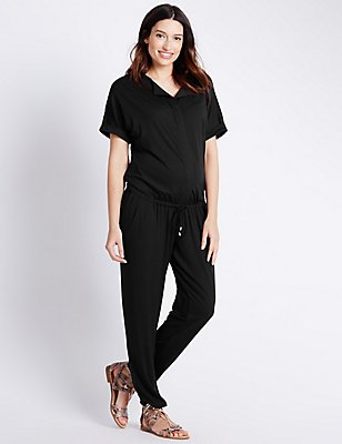 Maternity Jumpsuit, BLACK, catlanding