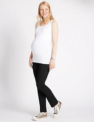 Maternity Straight Leg Jeans, BLACK, catlanding