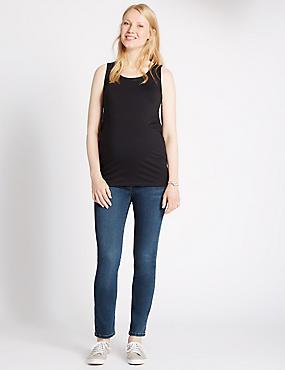 Maternity Straight Leg Jeans, INDIGO, catlanding
