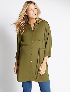 Maternity Military Shirt, KHAKI, catlanding